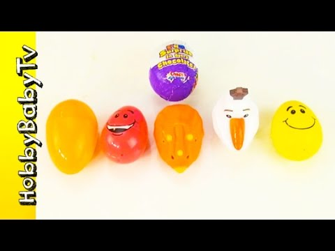 Surprise Fruit Word! ChocoTreasure Egg + Learn to Read, Spelling Food Words Lesson 4 HobbyBabyTV
