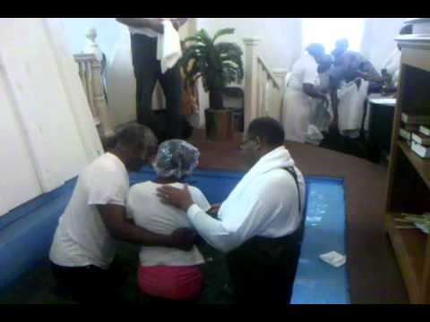Baptism at First African Baptist Church