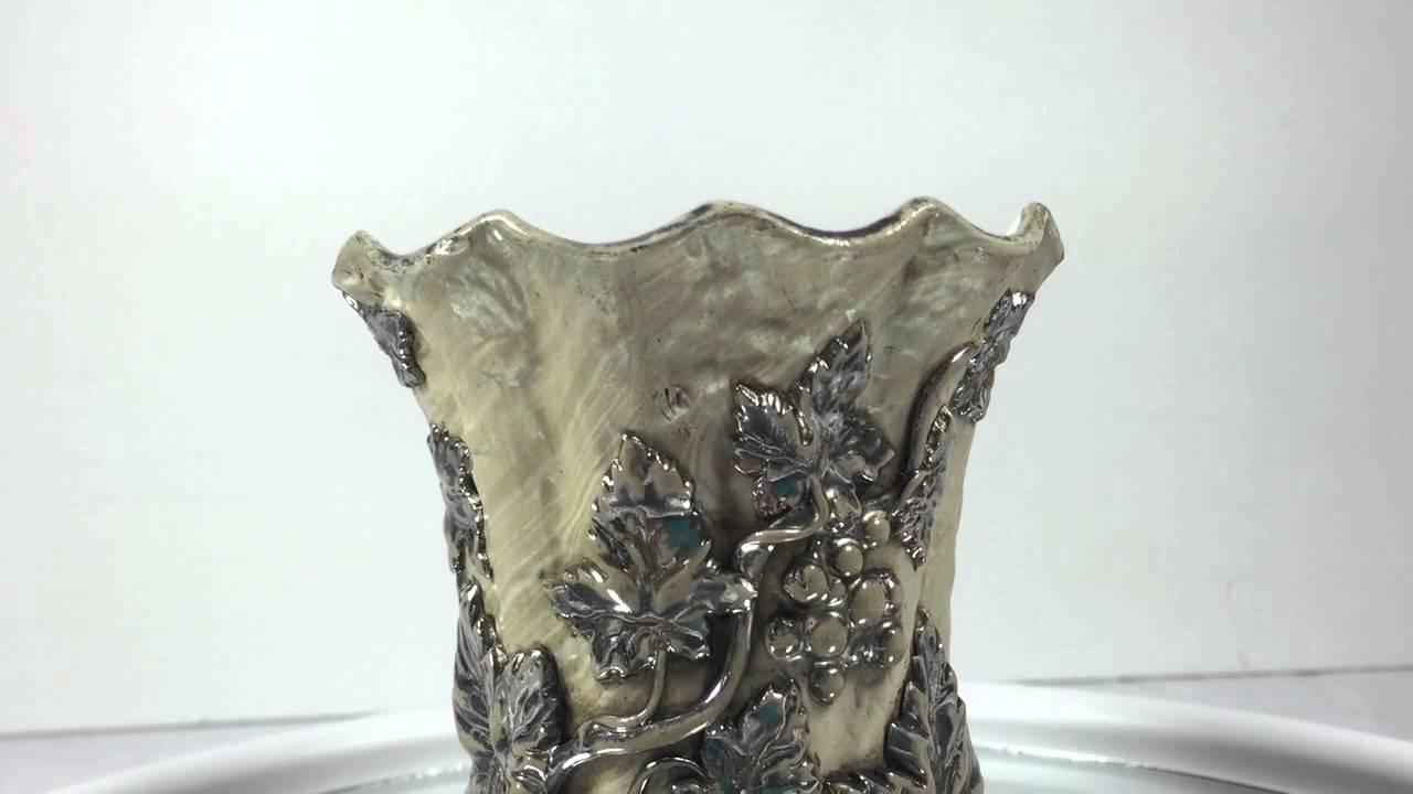Antique 1850s villeroy and boch mettlach platinum lustre vase antique 1850s villeroy and boch mettlach platinum lustre vase reviewsmspy