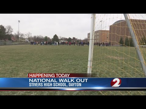 Stivers students walk out to memorialize school shooting victims