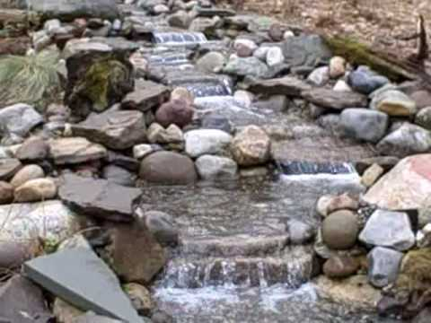 Pond Waterfall and Stream Project in New Jersey USA