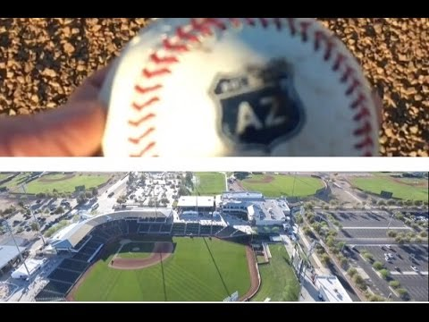 AERIAL DRONE FOOTAGE OF SURPRISE STADIUM (ROYALS + RANGERS SPRING TRAINING) PLUS GOT AN AZ BALL!
