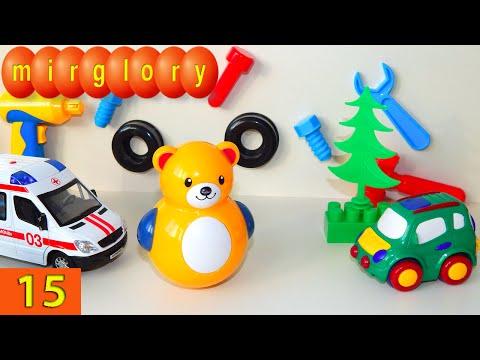 Машинки мультфильм - Город машинок - 15 серия: Автомастерская, игрушки танцуют. Развивающие мультики