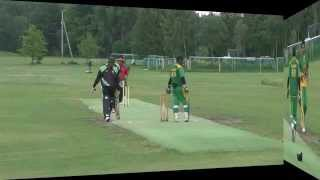 Excellent bowled by Musawar!! (Mosa) Nord  vs Bærum ( NM 2014 ) Norway