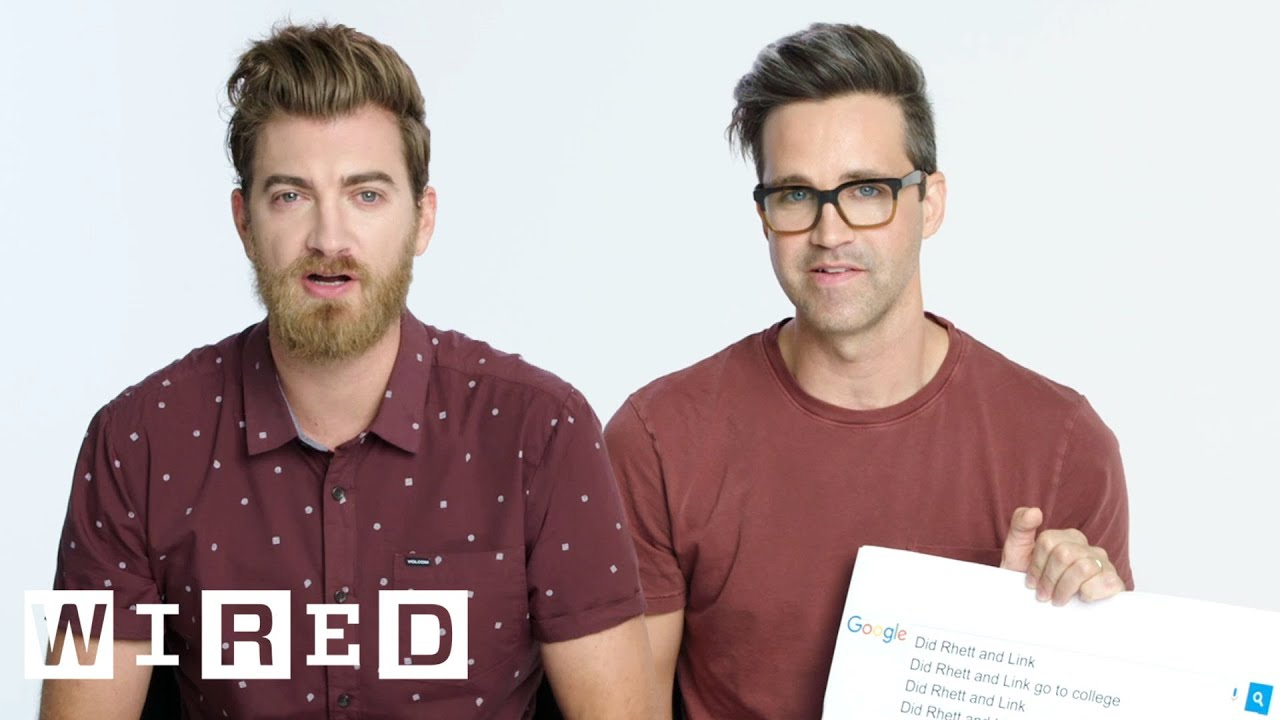 rhett link answer the web s most searched questions wired youtube