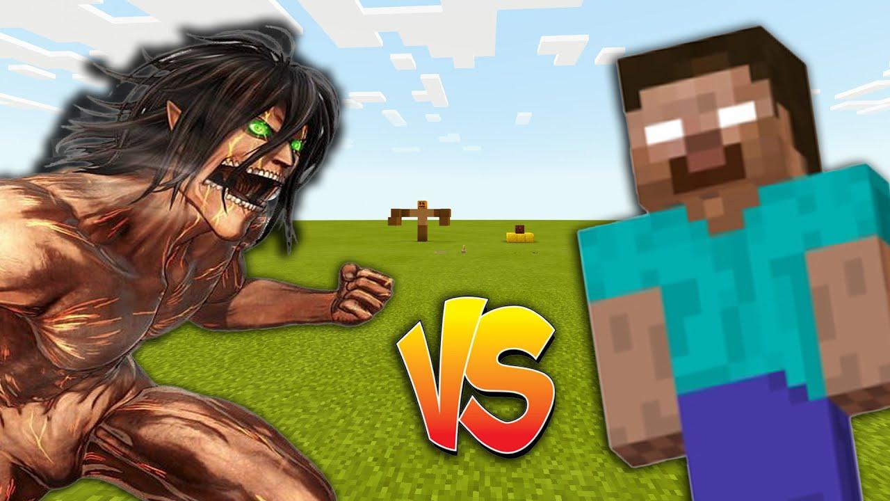 Download Attack Titan vs Herobrine in Minecraft