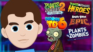 Plants vs zombies Battle for Neighborville, PvZ 2, Bloons TD 6, Angry Birds Epic, PvZ Heroes