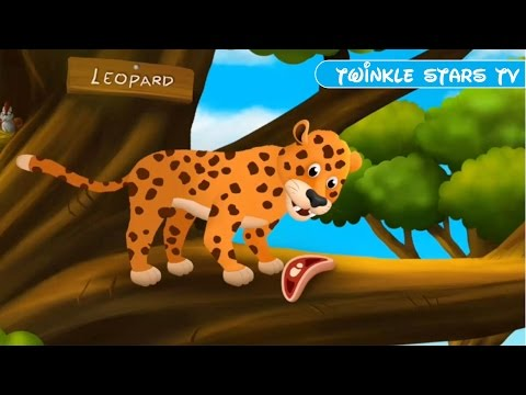 Baby Learn Animal Names and Sounds With Funny Cartoon Characters & Learning Favorite Foods Of Animal