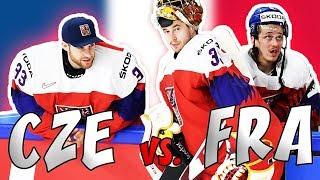 ČESKO - FRANCIE   MS v hokeji 2018