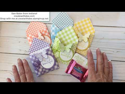 Gingham Gala Evelope Treat Holder: Project 1 Of 3 Of Same Set Of Products!