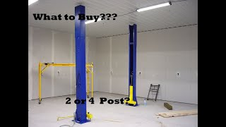 What to Buy? 4 Post lift or a 2 Post Pros & Cons