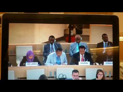 Human Rights Activist convey message to the #HRC on #Sudan 2017