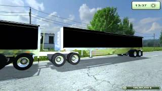 Farming Simulator 2013 Mods -  Logging trailer, Tippers, International Prostar