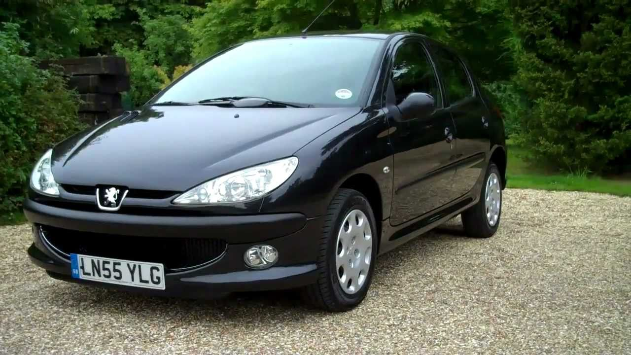 05 55 Peugeot 206 1 4cc 5dr Automatic Hatchback In Black