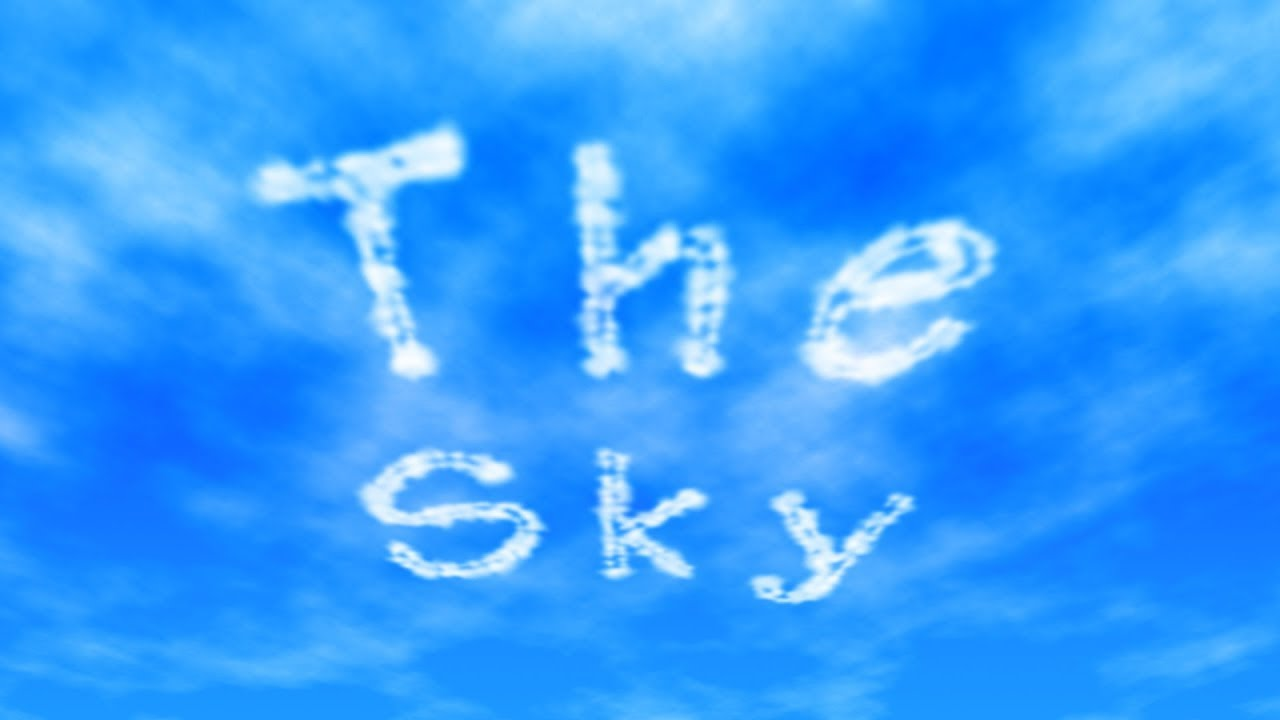 Photoshop Tutorial Skywriting How To Write In The Clouds Photoshop