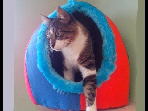 Casa iglu para perros y gatos youtube for Vallas para perros en casa