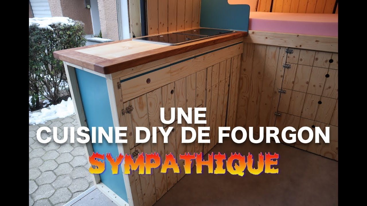 am nager son fourgon bien cuisinifier partie 6 youtube. Black Bedroom Furniture Sets. Home Design Ideas