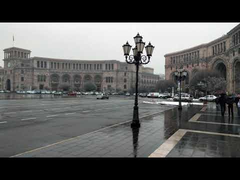 Площадь Республики город Ереван 17.02.2020