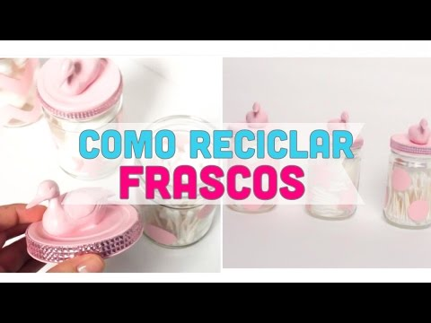 Ideas para reciclar frascos de vidrio manualidades con for Ideas para decorar frascos de vidrio