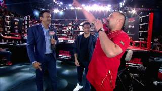 Benny Dhaliwal sings a song in punjabi style and dedicate to all fighters in super boxing league