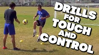 13 Soccer Drills To Improve Touch , Ball Control , And Footwork