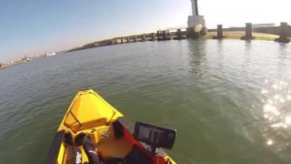 moteur thermique sur kayak hobie pro angler 14