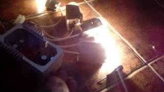 Электроудочка своими руками.(Печатка платы+схема - 5$ Пишите - ff7753191@gmail.com В нагрузку подключено 5 лампочек по 100ват. Управление частота..., 2015-02-16T18:10:17.000Z)
