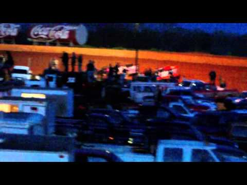 Laurens County Speedway crate heat race part 1 4/6/13