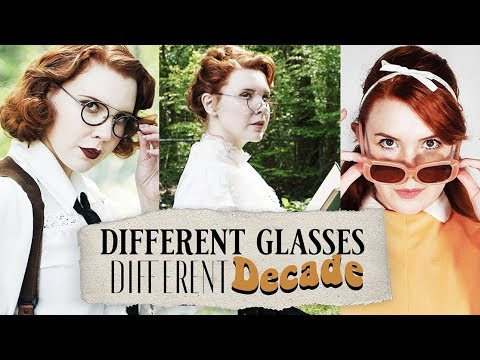 Different Glasses, Different Decade! || Vintage Glasses Lookbook/Haul