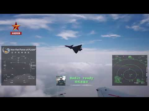 J-10 dogfight with pilots communicating in English