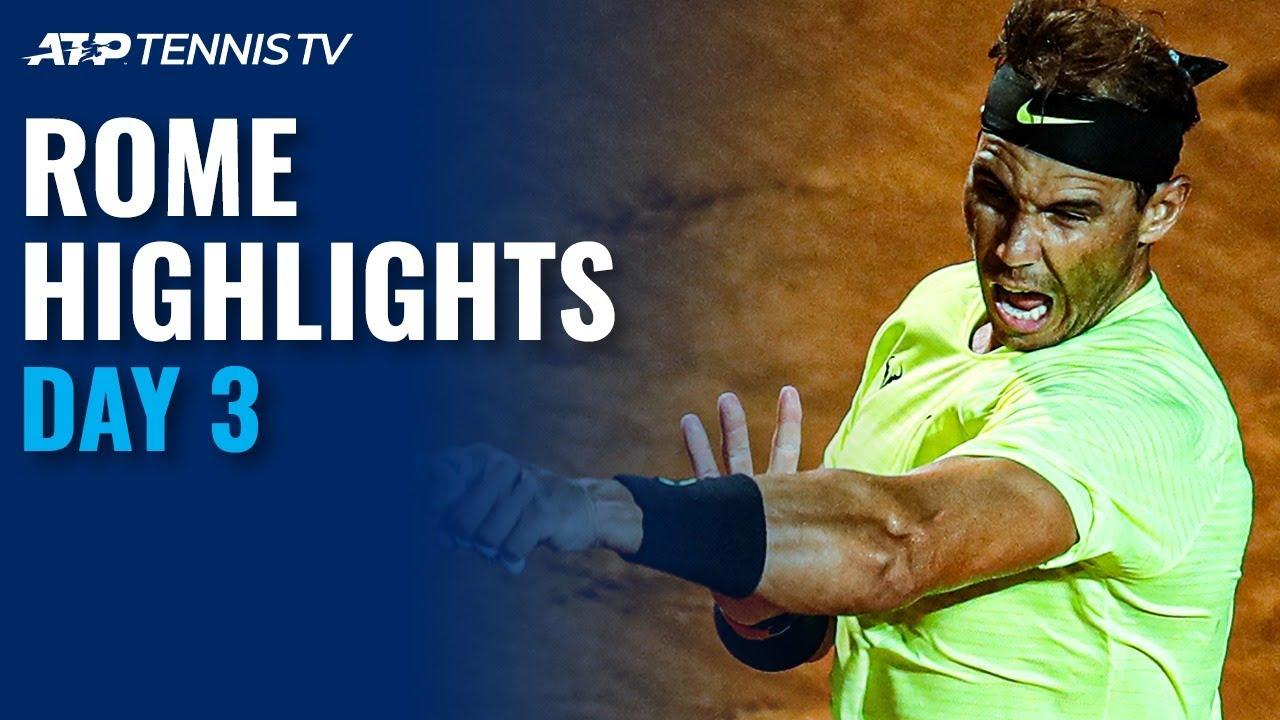 Nadal, Djokovic Make Winning Returns; Sinner Shocks Tsitsipas | Rome 2020 Highlights Day 3
