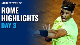 Nadal and djokovic returned triumphantly on day 3 the dirt in rome. subscribe to our channel for best atp tennis videos highlights: https:/...