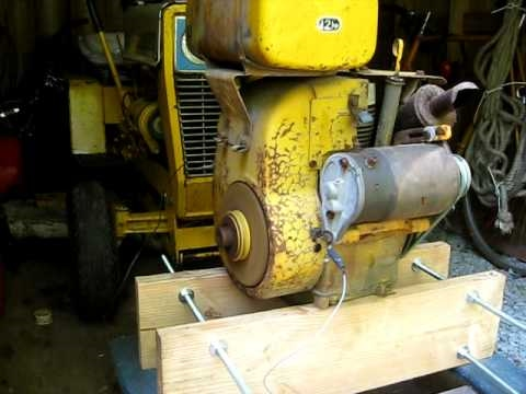 Cub Cadet Kohler K301a 12 Hp Basic Wiring Jump Start Youtube