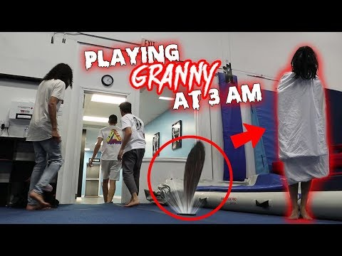 (GRANNY CAME OUT OF MY PHONE!) PLAYING GRANNY AT 3 AM!! SHE CAME TO US!