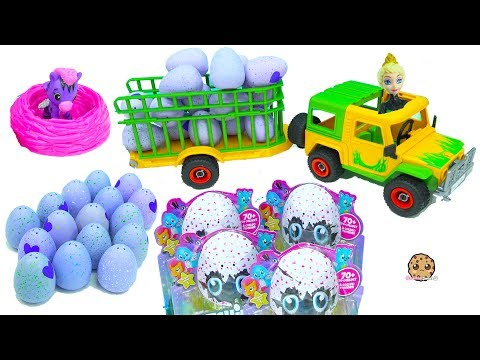 Thumbnail: Truck Of Hatchimals Hatching Surprise Blind Bag Baby Animal Eggs with Queen Elsa