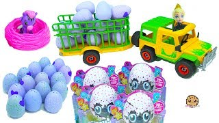 Truck Of Hatchimals Hatching Surprise Blind Bag Baby Animal Eggs with Queen Elsa thumbnail