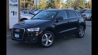 2015 Audi Q3 Premium W/ Leather, Moonroof AWD Review| Island Ford
