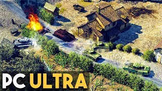 Sudden Strike 4 PC Ultra Settings Gameplay (WW2 Real Time Strategy Game)