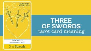 The Three of Swords Tarot Card