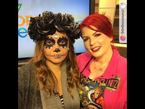 Winnipeg Body Painting LIVE Makeup Demo By VisualEyeCandy CTV MORNING LIVE