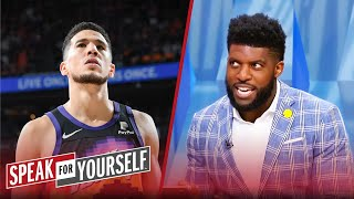 Devin Booker is beating CP3 in the early Finals MVP race — Emmanuel Acho | NBA | SPEAK FOR YOURSELF