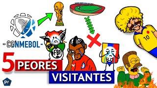 5 PEORES VISITANTES de la ELIMINATORIAS CONMEBOL (Rumbo a Qatar 2022)