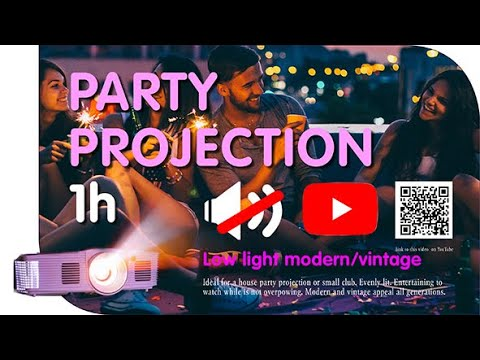 NEW party video mix for projection vintage modern visual effects