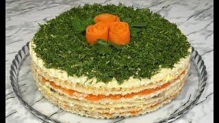 СЕЛЕДОЧНЫЙ ТОРТ РОСКОШНАЯ ЗАКУСКА НА НОВОГОДНИЙ СТОЛ 2021 ПРАЗДНИЧНАЯ ЗАКУСКА Snack Herring Cake