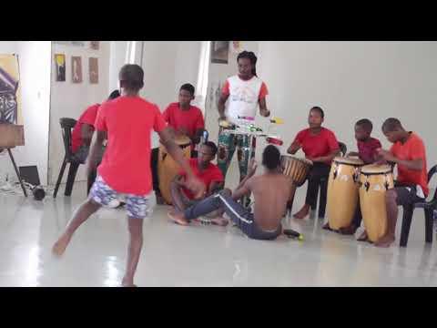 Njabulo Shabalala with the spirits of the drums