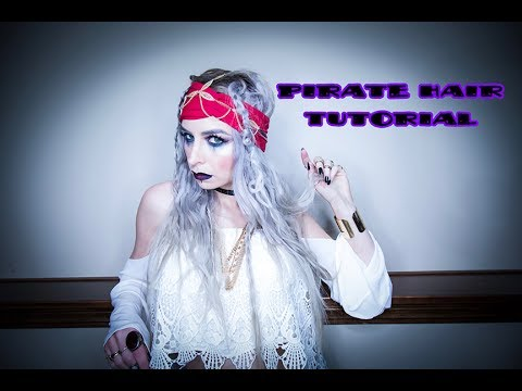 Pirate Hair Tutorial (inspired by Pirates of the Caribbean)