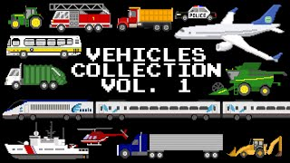 Vehicles Collection Volume 1 - Cars, Trucks, Planes, Boats, & More! - The Kids