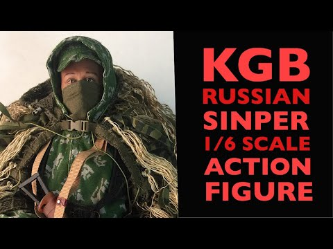 KGB Russian Sniper 1/6 Scale Action Figure