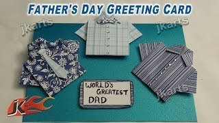 DIYHow to make Shirt Card / Father's day card/ Teacher's day card | JK Arts 241