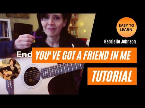 """""""You've Got a Friend in Me""""Guitar Tutorial - Key of G"""